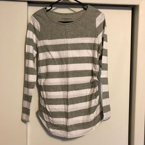 Striped Long Sleeve Maternity Top